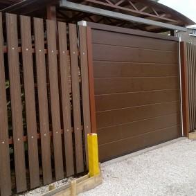 деревянный забор для участка виды фото