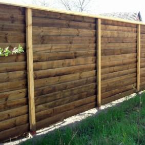 деревянный забор для участка фото идеи