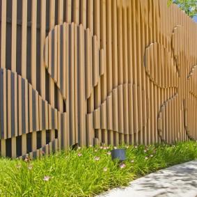 деревянный забор для участка виды дизайна