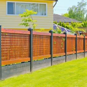 деревянный забор для участка виды оформления