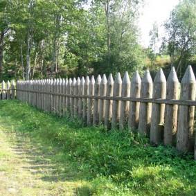 деревянный забор для участка варианты оформления