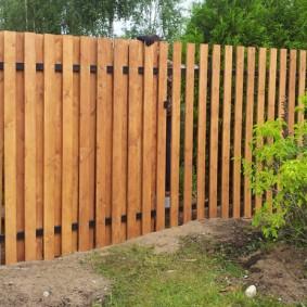 деревянный забор для участка дизайн