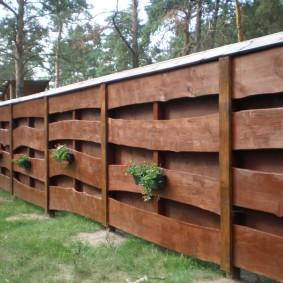 деревянный забор для участка дизайн фото