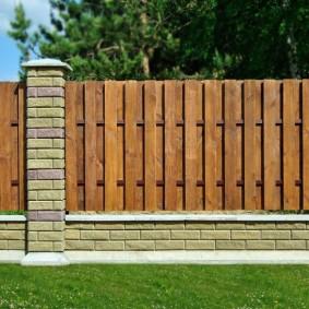 деревянный забор для участка фото дизайн