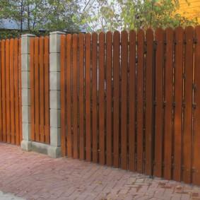 деревянный забор для участка дизайн идеи