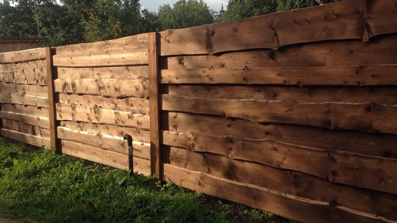 деревянный забор идеи