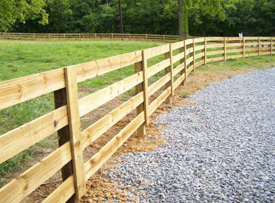 Фото деревянного забора в стиле ранчо