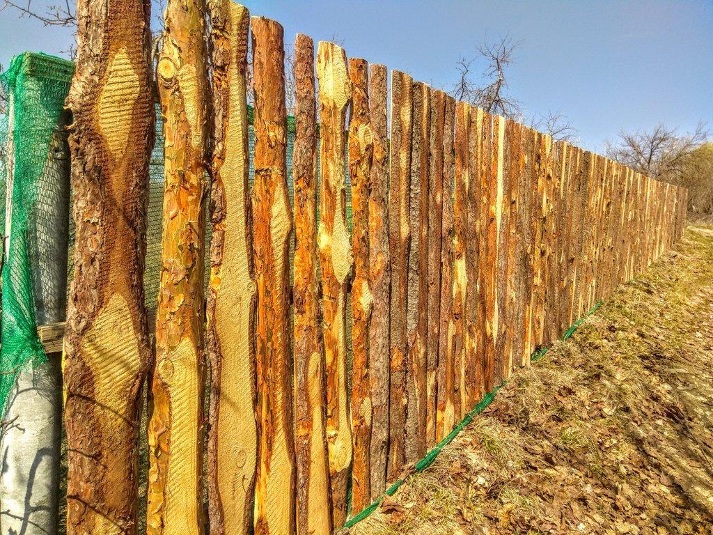 дешевый забор из горбыля