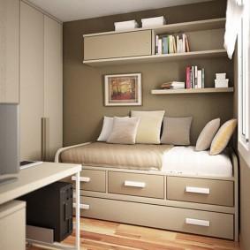 Компактная мебель в детской спальне