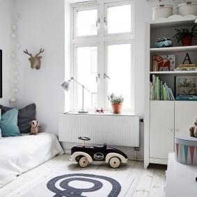 Декор стен детской в скандинавском стиле