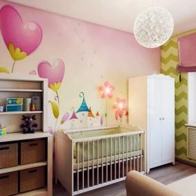 Просторная комната для новорожденного и мамы