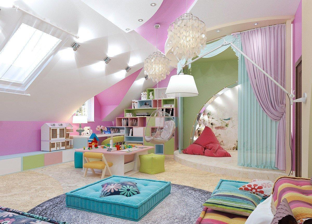 детская игровая комната идеи дизайна