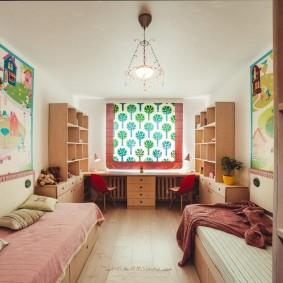 детская комната 14 кв м фото декор