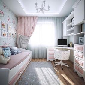 детская комната 14 кв м фото декора