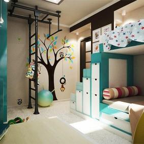 детская комната 14 кв м фото интерьер