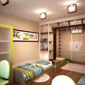 детская комната 14 кв м фото интерьера