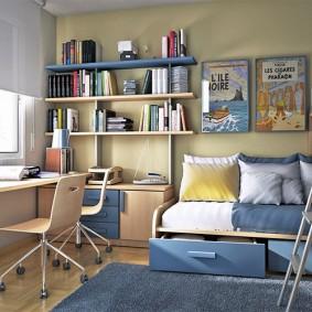 детская комната 14 кв м оформление фото