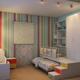 детская комната 14 кв м фото оформление