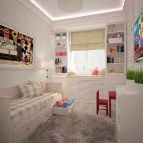 детская комната 14 кв м фото оформления