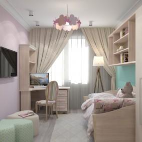 детская комната 14 кв м варианты идеи
