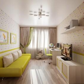 детская комната 14 кв м идеи дизайн