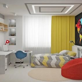 детская комната 14 кв м декор