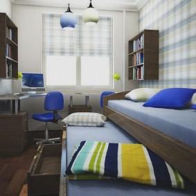 детская комната 9 кв м фото декор