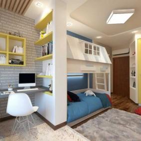 детская комната 9 кв м фото декора