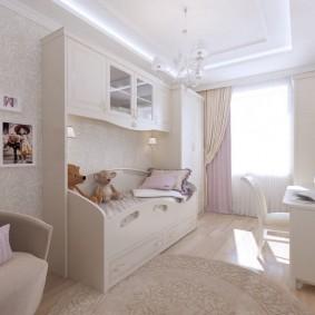 детская комната 9 кв м интерьер фото