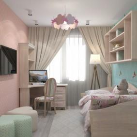 детская комната 9 кв м фото интерьер