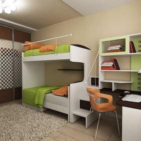 детская комната 9 кв м интерьер идеи