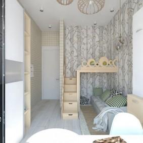 детская комната 9 кв м идеи интерьера