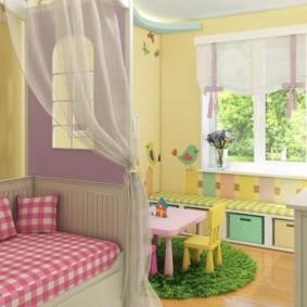 детская комната 9 кв м оформление