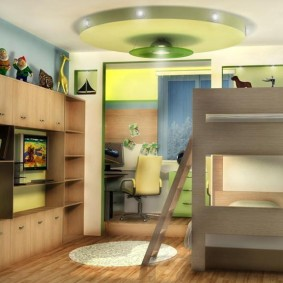 детская комната 9 кв м фото оформления