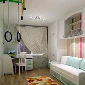 детская комната 9 кв м идеи оформление