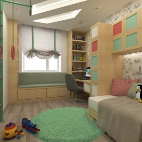 детская комната 9 кв м варианты фото