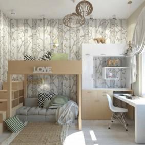 детская комната 9 кв м варианты идеи