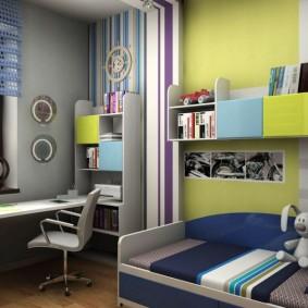 детская комната 9 кв м дизайн фото