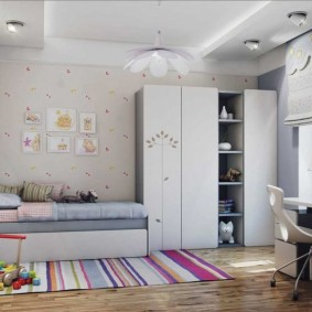 детская комната 9 кв м фото дизайн