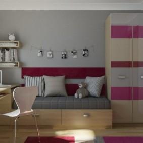 детская комната 9 кв м фото дизайна