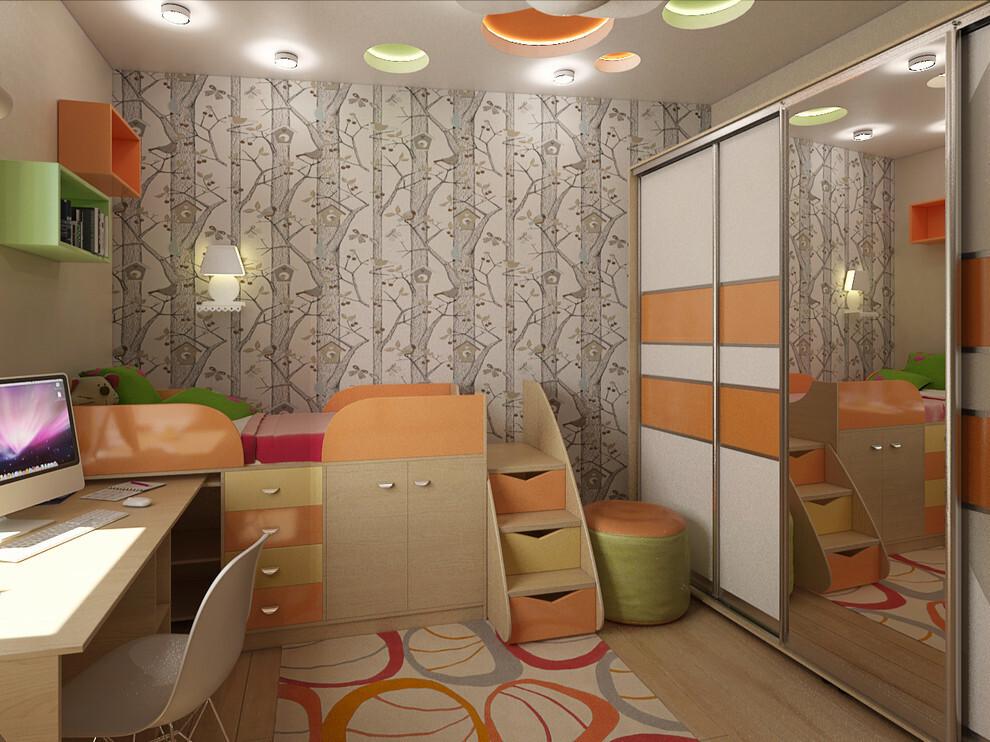 Меблировка детской комнаты в панельном доме