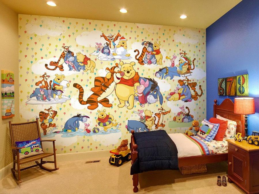 Фотообои в спальне маленького мальчика