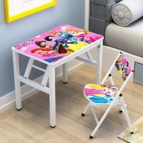 детские столики со стульчиком декор идеи