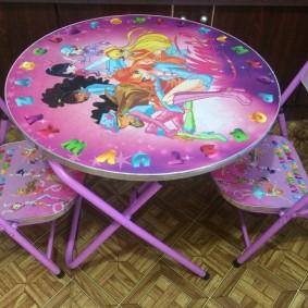 детские столики со стульчиком идеи декора
