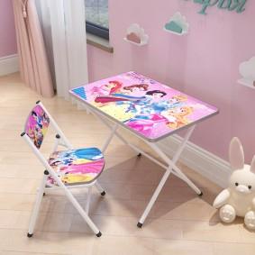 детские столики со стульчиком интерьер