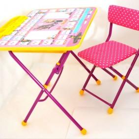 детские столики со стульчиком фото интерьер