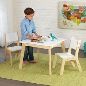 детские столики со стульчиком оформление идеи