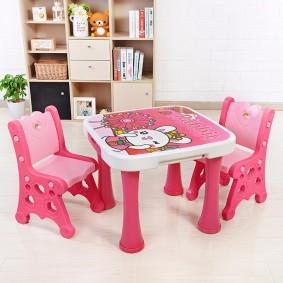 детские столики со стульчиком виды декора