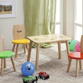 детский деревянный стульчик оформление фото