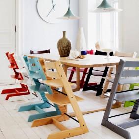 детский деревянный стульчик идеи вариантов